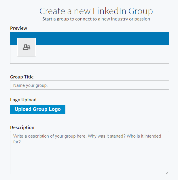 create a group to promote an event