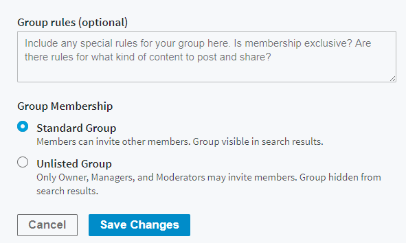 create group to promote event linkedin
