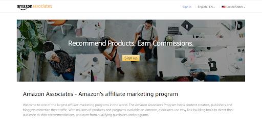 Amazon affiliates screenshot monetize traffic