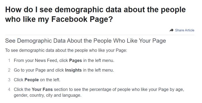 Facebook Page Insights Screenshot Advanced Affiliate Marketing