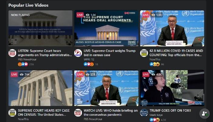 Facebook Watch Live Video Content