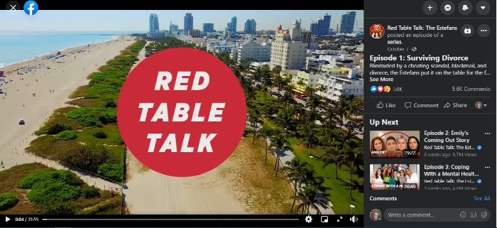 Facebook Watch Red Table Talks