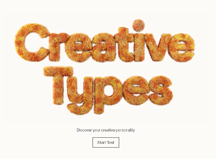 My Creative Type microsite home page