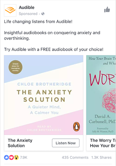 Audible mobile ad example