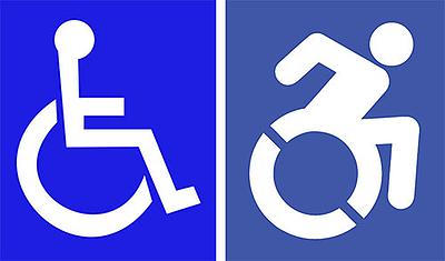 redesigned wheelchair symbol
