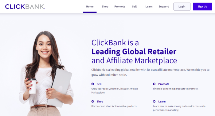 Top Affiliate Networks ClickBank