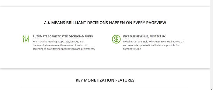 ezoic screenshot 1 monetize traffic