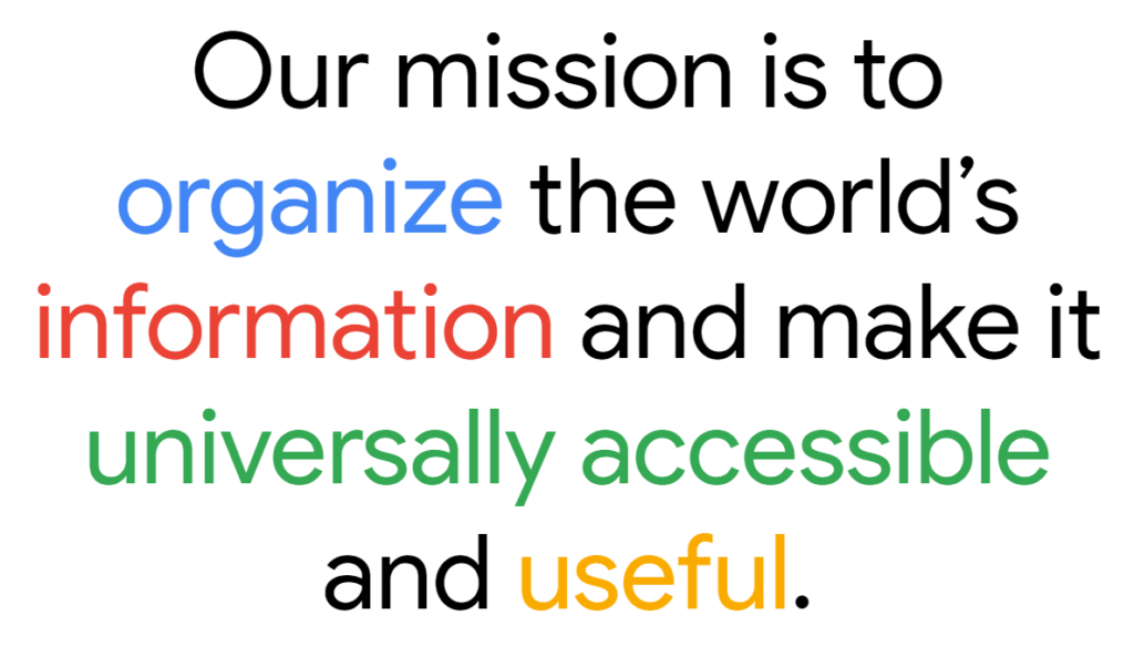 Google's company mission