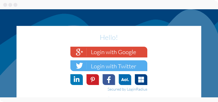 create social login option