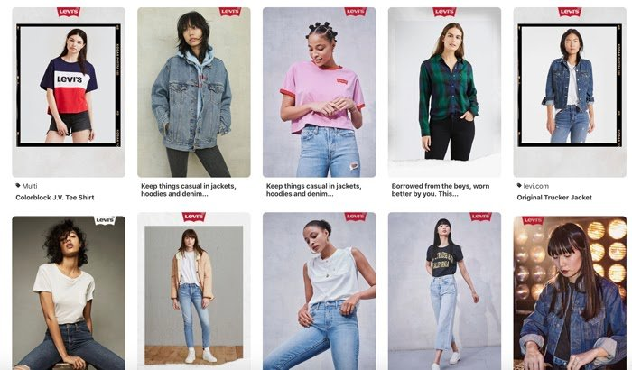 styled by levis microsite pinterest collaboration