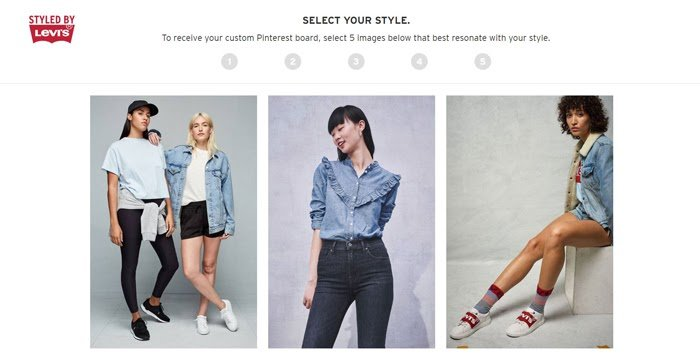 styled by levis microsite quiz