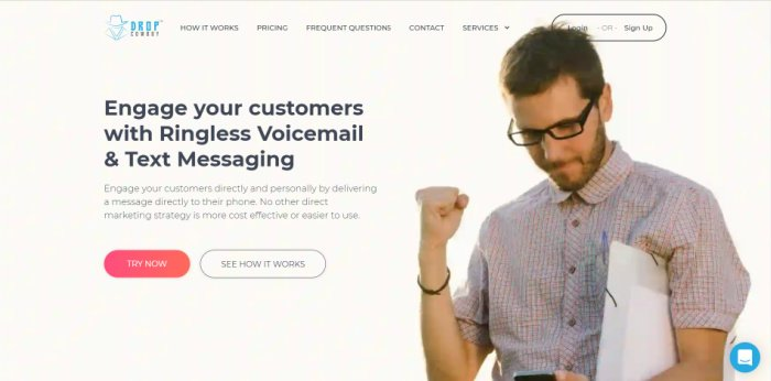 Drop Cowboy  provides ringless voicemail services.