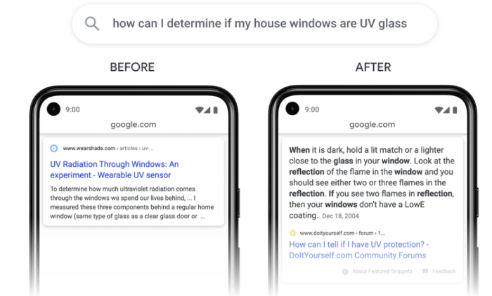 Passage Indexing vs. Featured Snippets