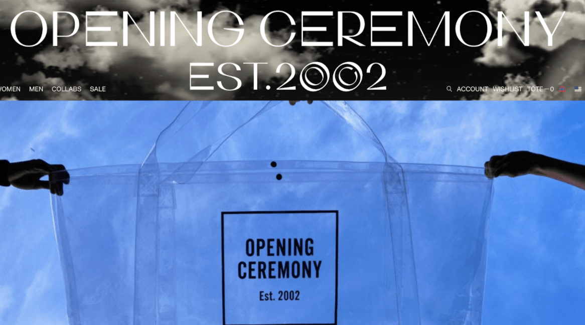 opening ceremony design with est. 2002