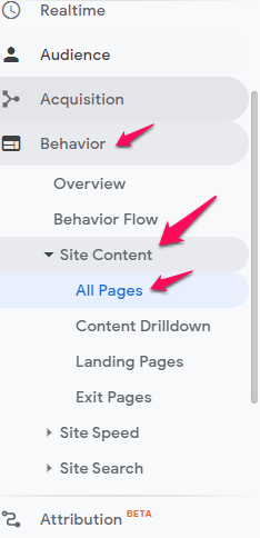 advanced SEO find low performing content in Google analytics