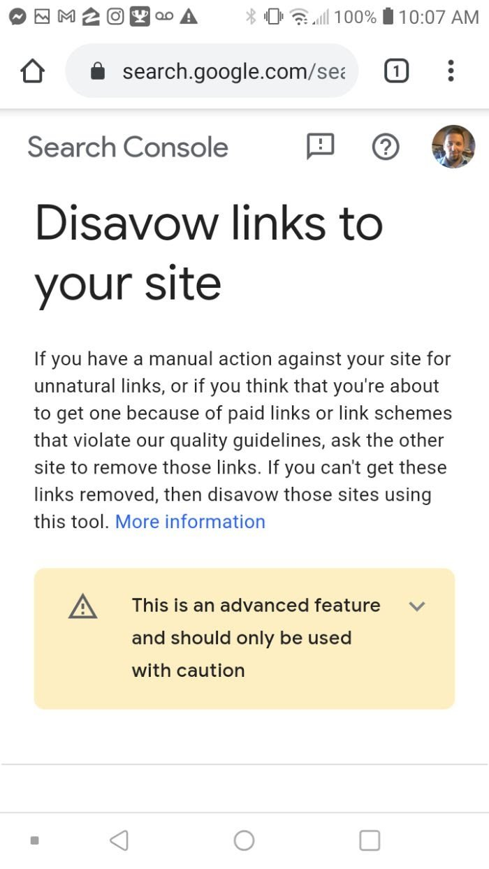 disavow links to remove information from google