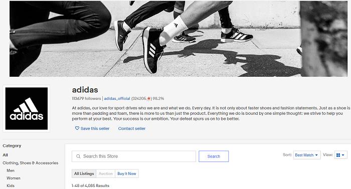 Ebay SEO - Product Identifiers adidas