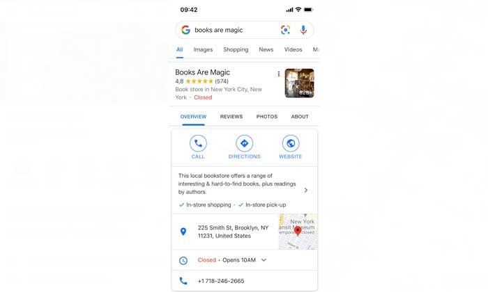 google plus business on mobile