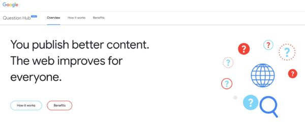 screenshot of Question Hub in Google