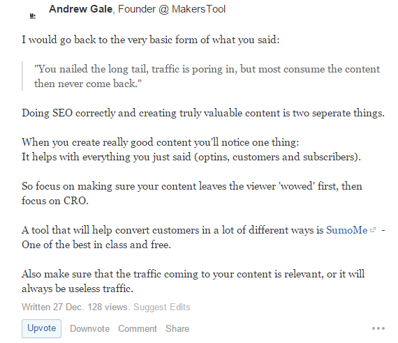 advanced SEO techniques get ideas from quora