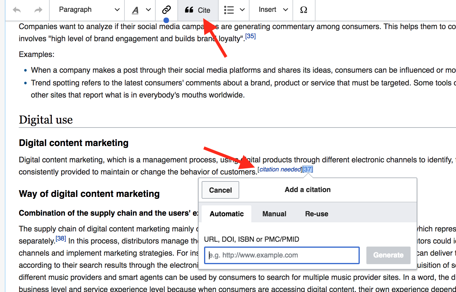 advanced SEO techniques find links on wiki