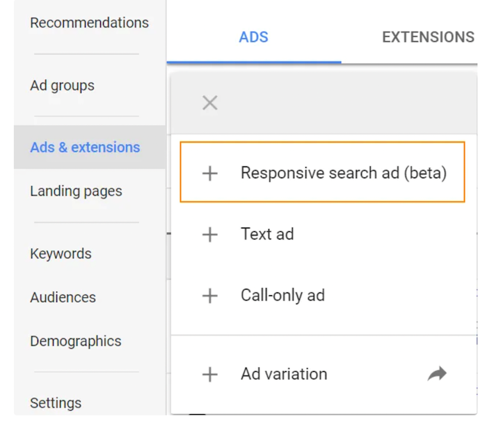 Responsive Search Ads - Open Your Google Ads Account