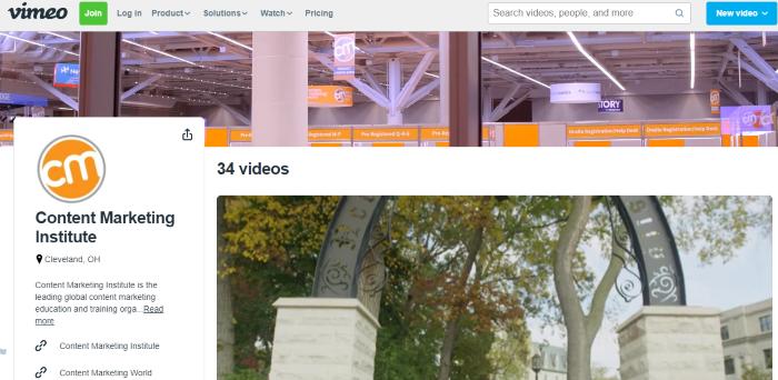 vimeo channel - example CMI