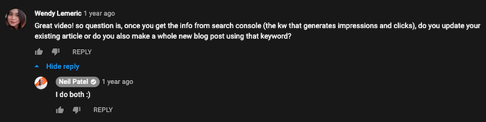 use youtube comments to find blog post ideas