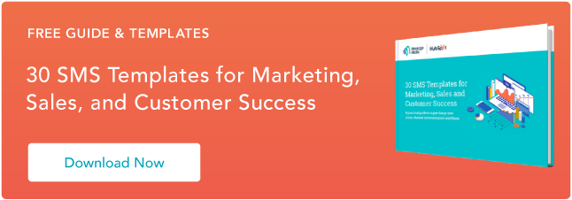 SMS Templates for Marketing Sales and Service