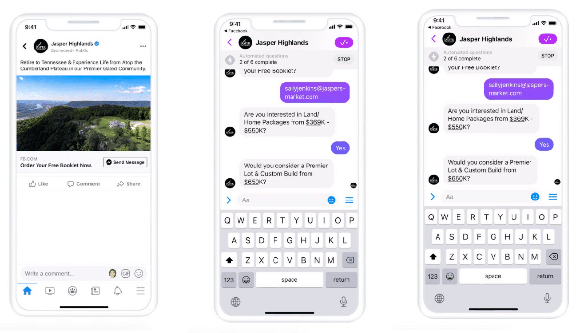 Newsome Interactive automated chatbot conversation