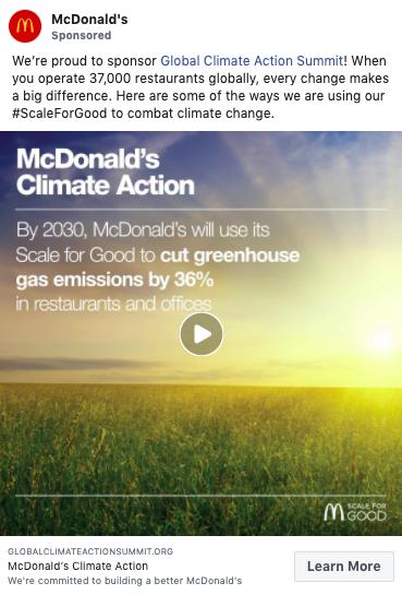 Target markets - McDonald's Facebook ad Millennials