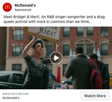 Targets markets - McDonald's Facebook ad Gen Z