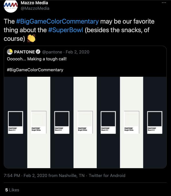 guerrilla marketing pantone example feedback