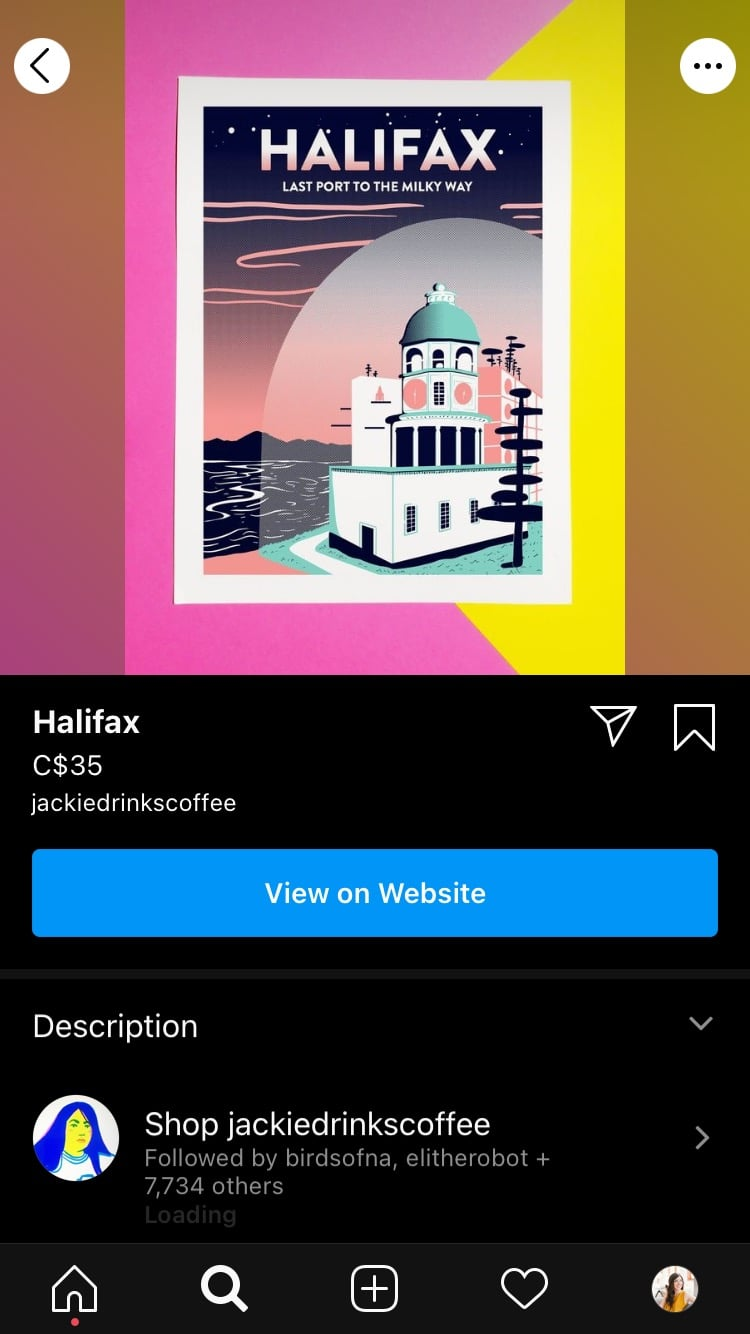 graphic print of Halifax by Jackie Lee