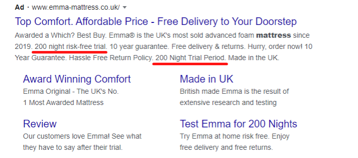 example of a sales promotion for paid campaigns