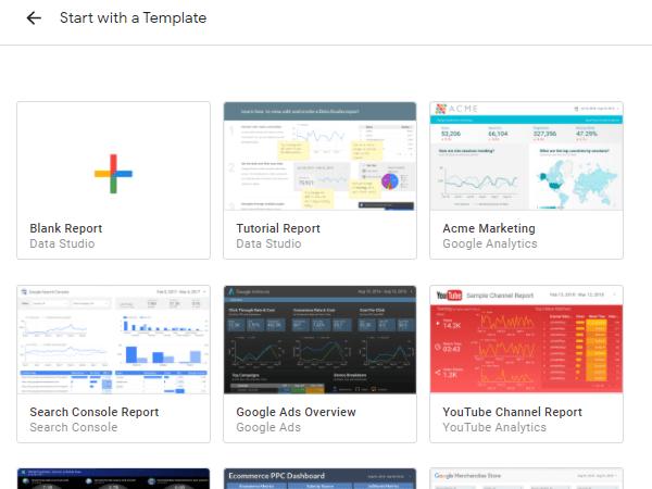 Google Data Studio report templates
