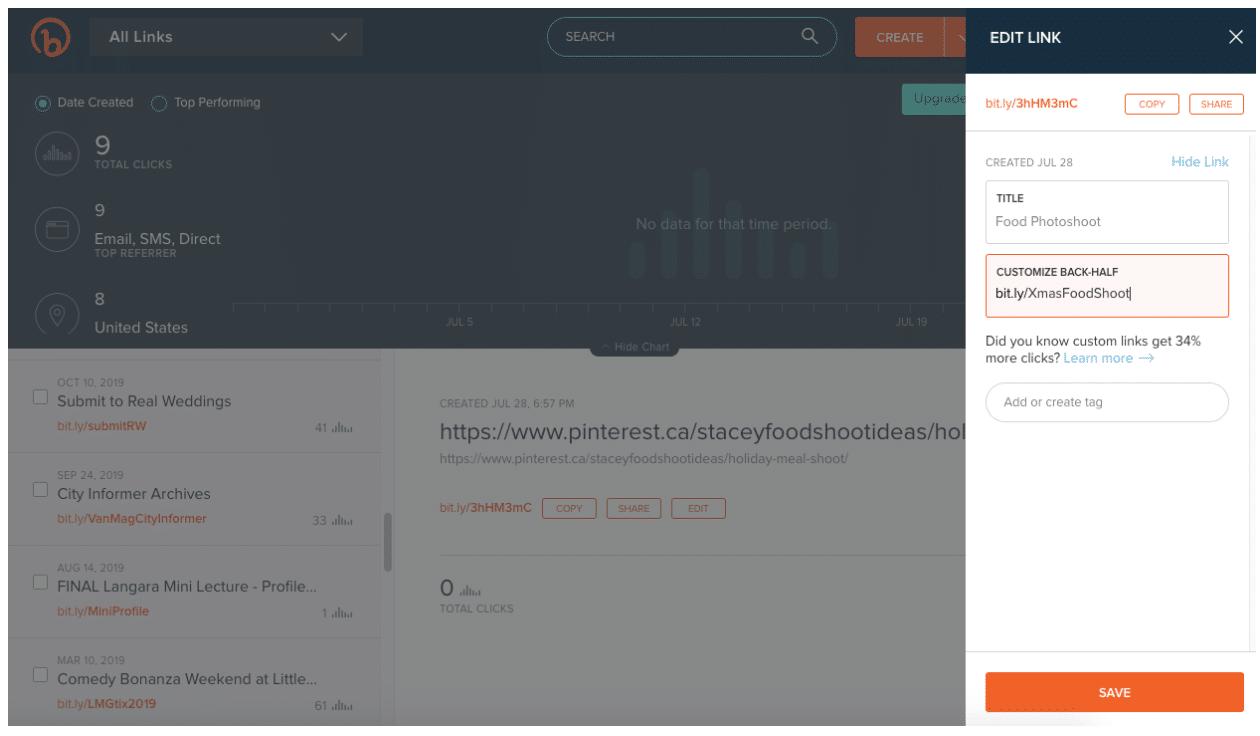 Bitly URL shortener