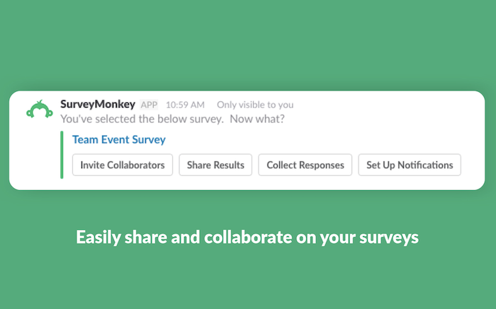 survey monkey slack app