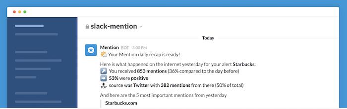 Mention slack app
