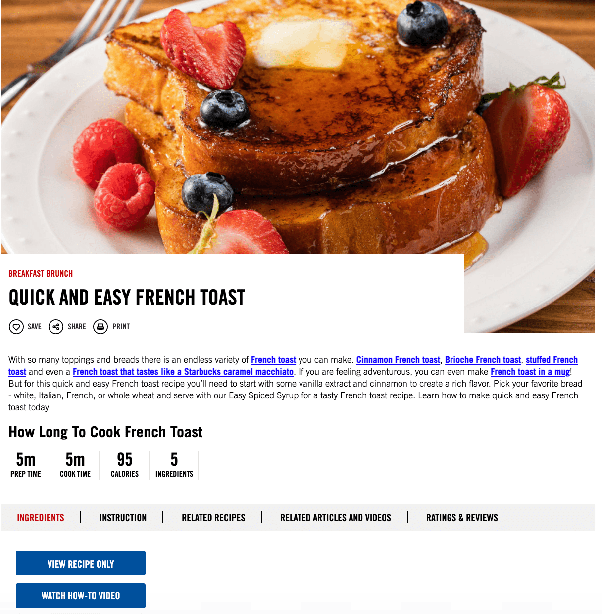 french toast recipe how to guide