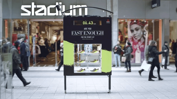 Examples of Great Out of Home Advertising - Reebok sneaker kiosk