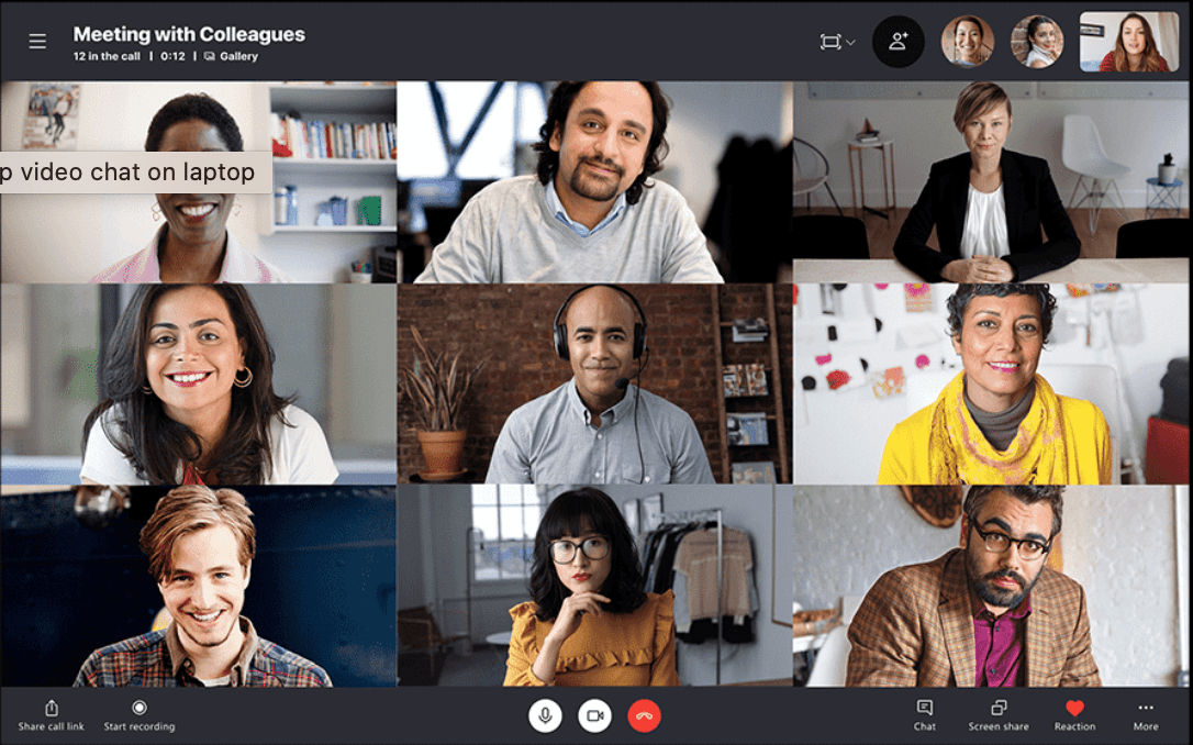 Skype for Business video call