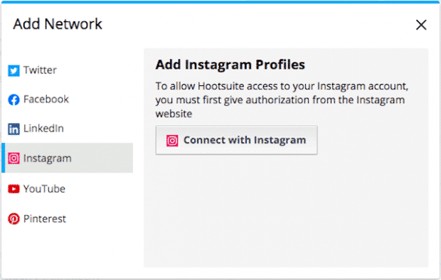 Option to add multiple Instagram profiles in Hootsuite