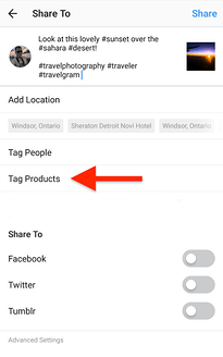 How to Tag Products with Instagram Shoppable Posts step 2