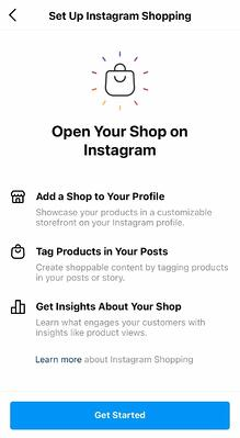 How to submit your Instagram shop account for review step 2