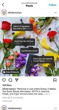 Instagram shoppable tag example