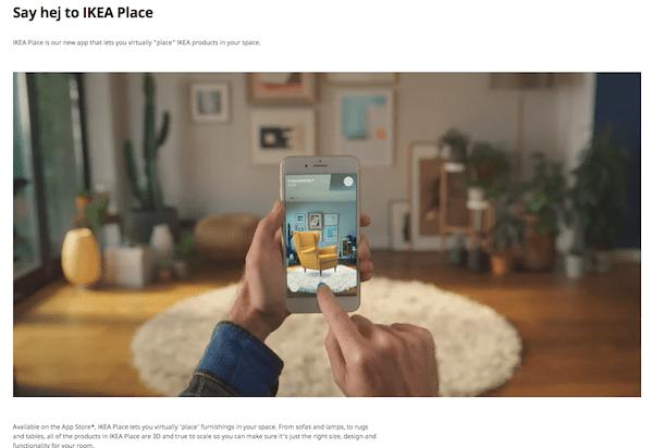 Examples of X Reality - IKEA app