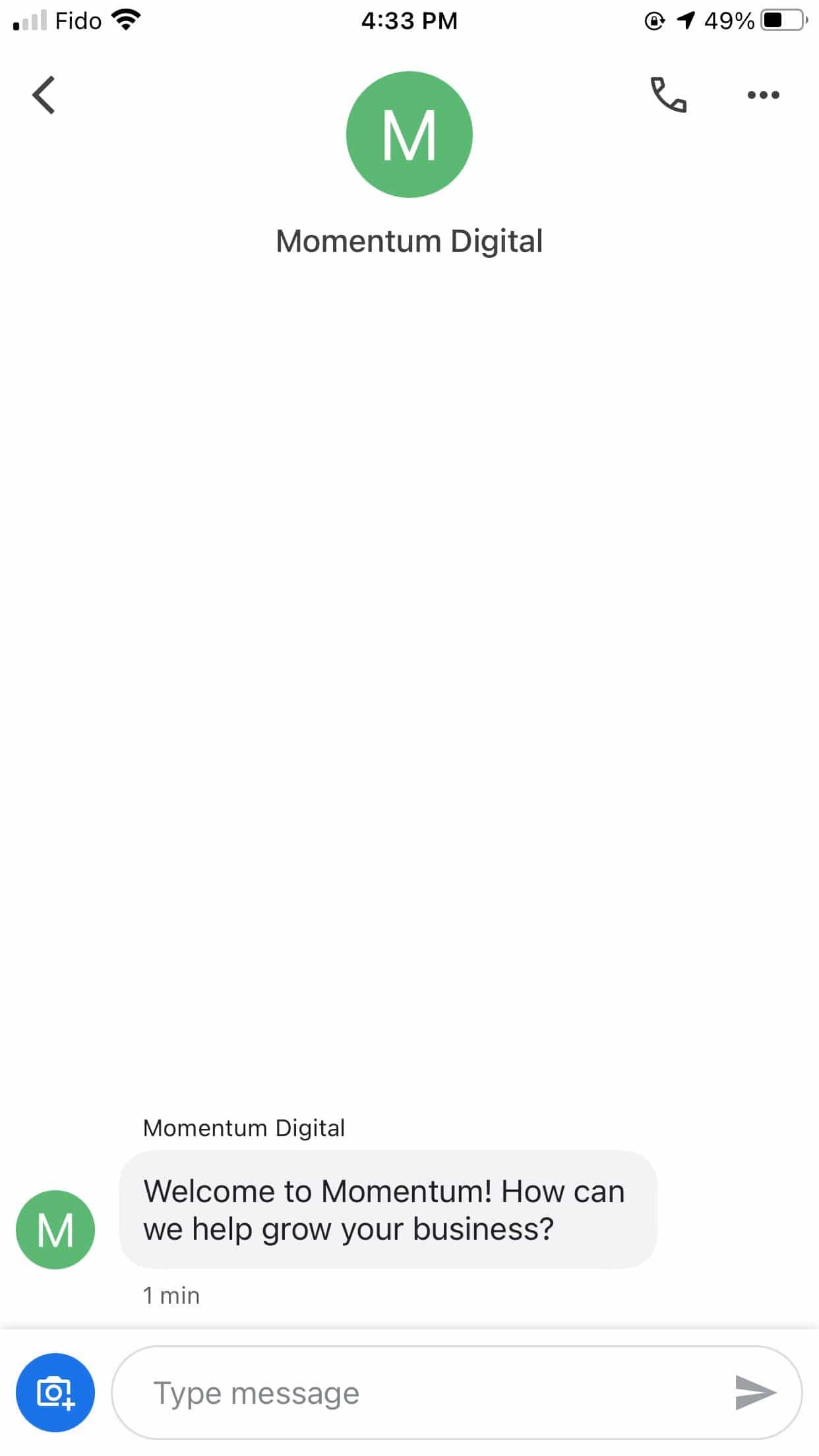 Momentum Digital welcome note