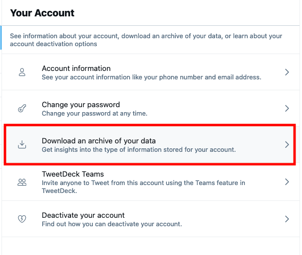 How to Find Old Tweets - Download an archive of your data in Twitter's Advanced Search