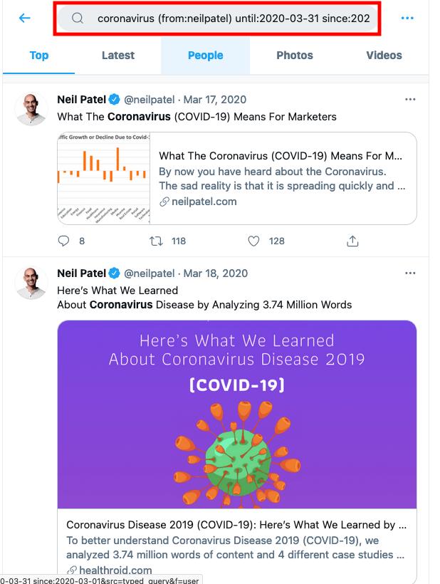 Old Tweets Examples, Neil Patel